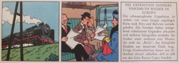 Tim im Zug - mit Zeitung.