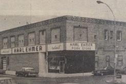 Die Großfleischerei von Karl Ehmer in Ridgewood.