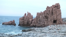 Die roten Felsen von Arbatax.