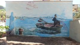 Der Fischer und die Heilige, gesehen in Arbatax.