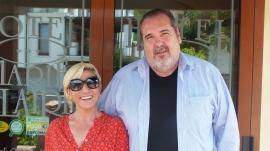 Luigi Pizzin hat in Lanusei mit der Sardin Giuliana Stochino eines der wenigen Hotels in der Stadt übernommen.
