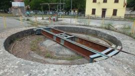 Drehkreuz im Bahnhof von Gairo.