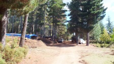 Das Lager der Forstmänner hoch über Lanusei.