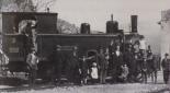 Diese Dampflokomotive trägt den Namen der Stadt Cagliari.