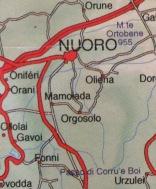 """Das """"Räubernest"""" Orgosolo liegt südlich der Provinzhauptstadt Nuoro."""