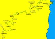Das Teilstück der Schmalspurbahn von Arbatax am Meer bis Mandas im Inneren der Ogliastra.