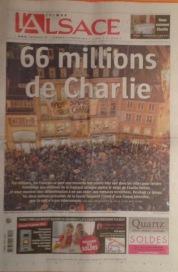 L' Alsace: 66 Millionen sind Charlie.