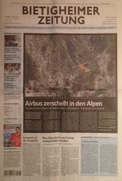 Absturz in den Alpen.