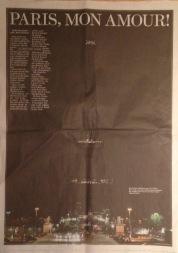 BILD zu einem dunklen Tag: Viel Druckerschwärze nach den Anschlägen in Paris.