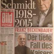 Hier ist offensichtlich: Der Tod von Schmidt hat Beckenbauer von oben nach unten geschoben.
