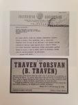 Todesanzeige von B. Traven.